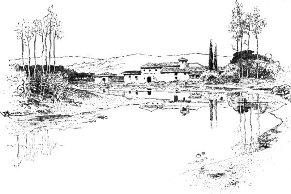 On The Arno Near Empoli In 1887 By Joseph Pennell