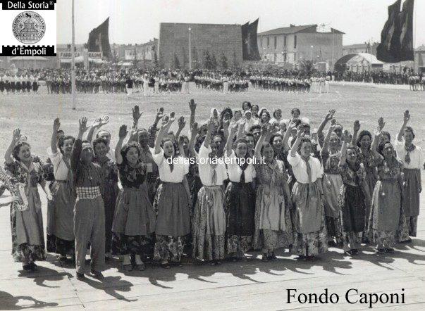 Il saluto fascista dei Rurali allo Stadio Martelli e la Mostra delle attività empolesi 1939