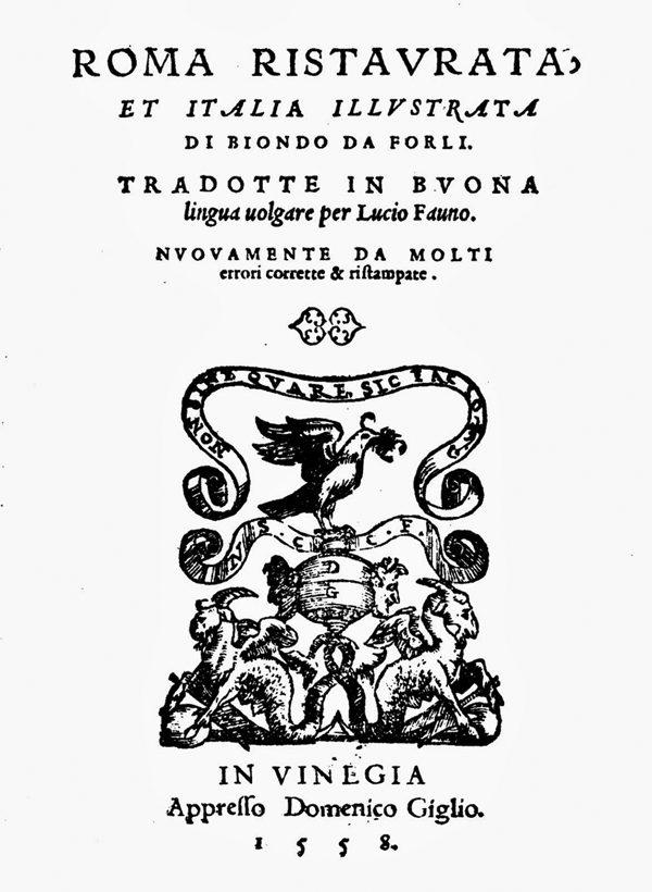 """Empoli Nell'""""Italia Illustrata"""" Di Flavio Biondo – A Cura Di Francesco Fiumalbi"""