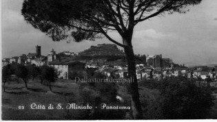 San Miniato - Veduta postbellica senza la torre. Cartolina di F. Arrighi
