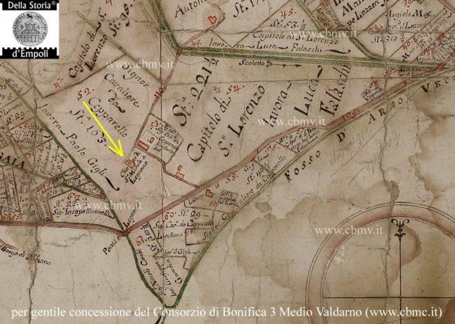 La chiesa di Legnana rappresentata nella mappa