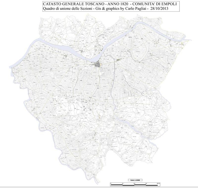 Il Territorio Comunale Di Empoli Nel Catasto Leopoldino 1820 – Di Carlo Pagliai