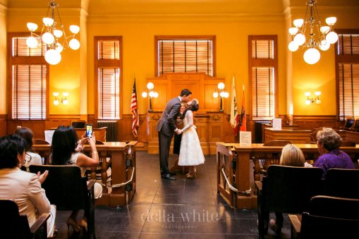 first kiss civil ceremony wedding