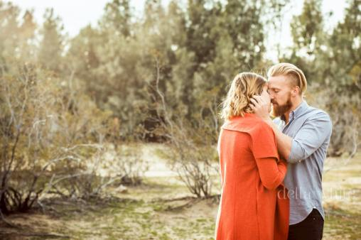 engagement session in joshua tree california