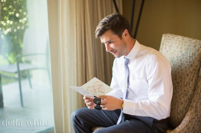 reading a note from the bride