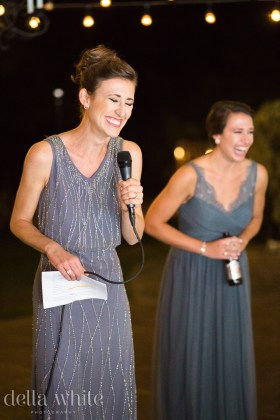 maid of honor toast during reception