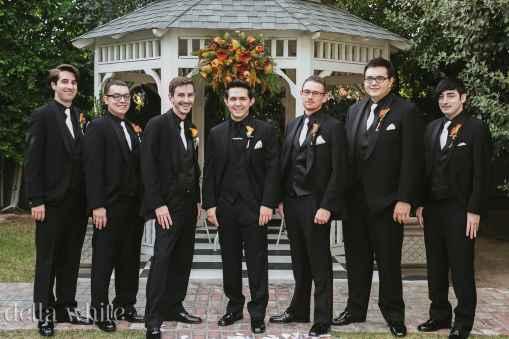 groomsmens photos at christmas house inn