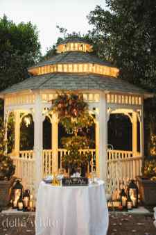 sweetheart table by the gazebo