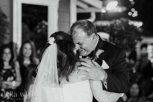 emotional hug after father daughter dance