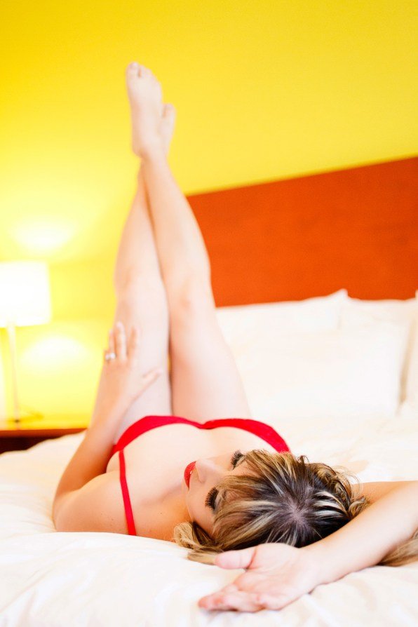 legs up on the bed