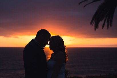 silhouette at sunset in del mar