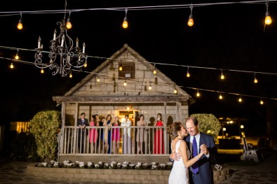 evening reception outdoors at temecula creek inn