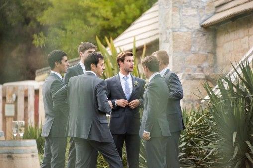 groom & groomsmen preparing to walk down the aisle