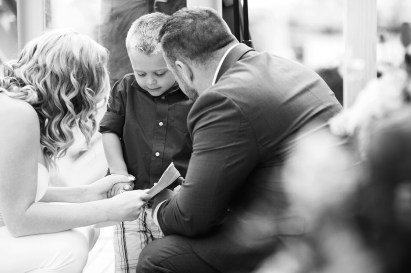 little boy during the wedding ceremony