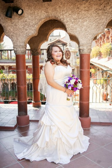 laughing bride at mission inn