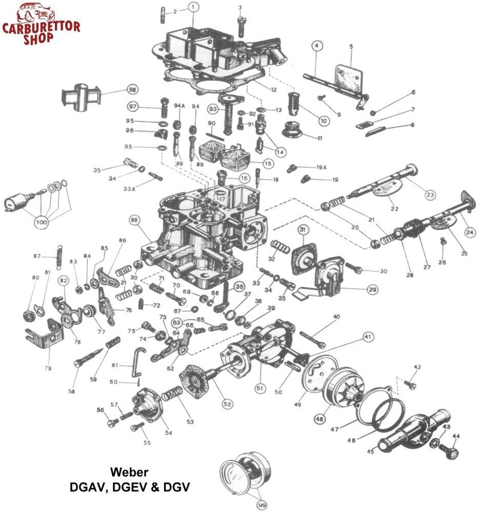 Weber dgav dgev and dgv carburetor parts rh carburettorshop zenith carburetors diagrams weber carburetor diagram