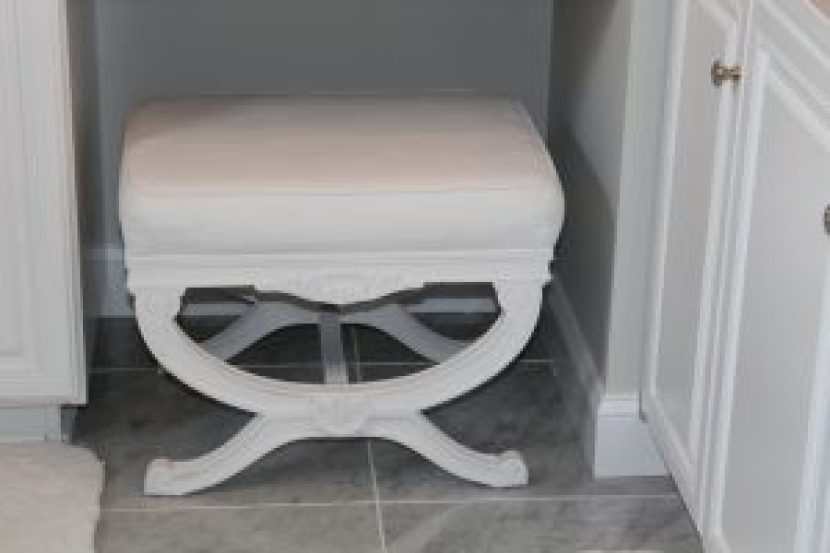 Chalk Painted Stool-In its new spot! – dells daily dish