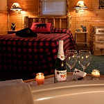 Hot Springs Whirlpool Cabin As Presented By Meadowbrook Resort & Dells Packages In Wisconsin Dells