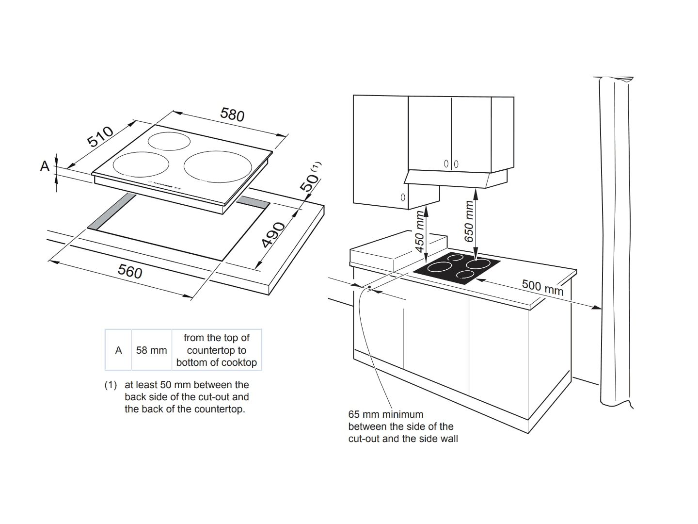 3 Zone Induction Cooktop
