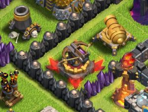 Clash of Clans - Mortar, X-bow, Canon and Inferno Tower
