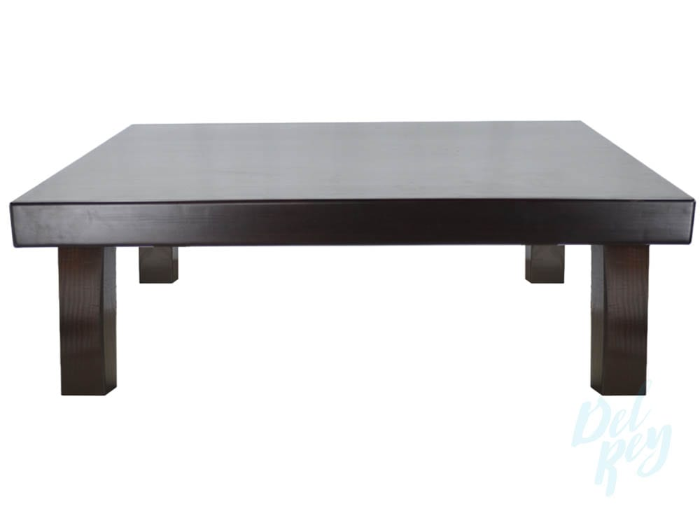 refined wood coffee table 48 x 48 18 high