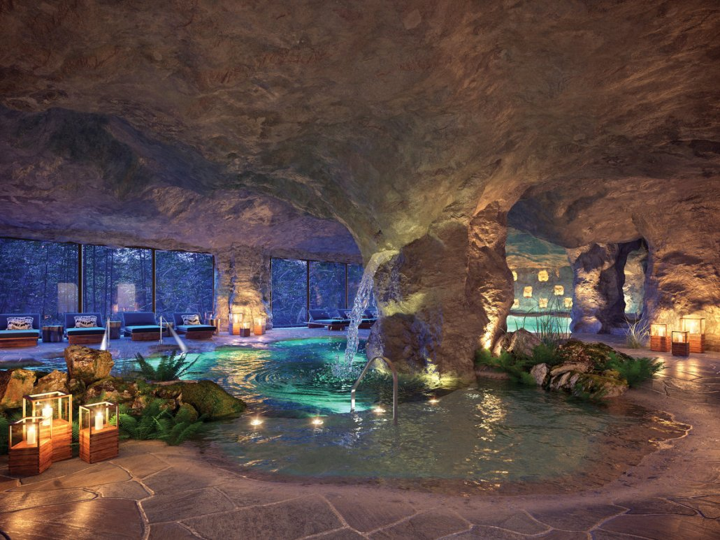 most epic spa ever? Now Natura Riviera Cancun Hydrotherapy inspired by Mexico jungle cenote