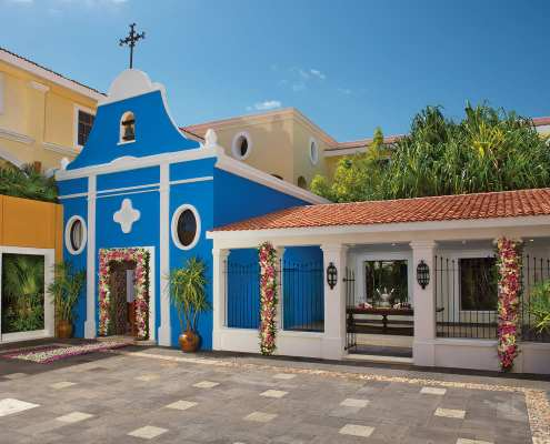 Dreams Tulum Wedding Chapel Annex Catholic religious symbolic and legal ceremony venue Riviera Maya Mexico
