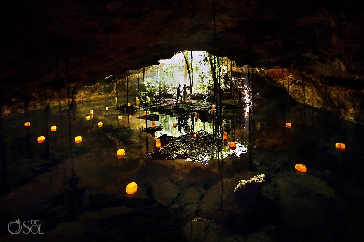 Mexico elopement ideas for nature lovers cenote wedding