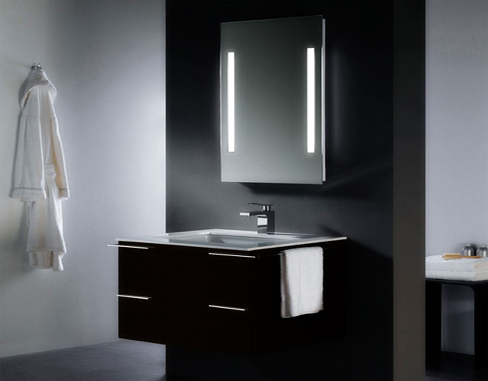lit bathroom mirror cabinets bathroom mirrors and mirror cabinets: dwell bathroom cabinet