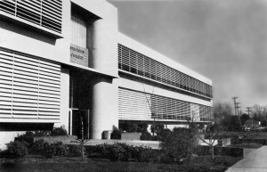 The main building of the original Stockton College in the 1960s.
