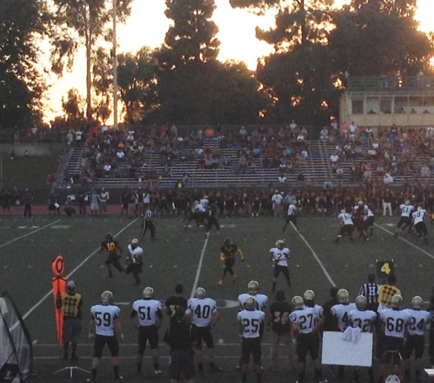 ROUGH BEGINNING: The Mustangs fought hard but lost to Chabot College 32-17.  PHOTO BY ELENOR MAFI