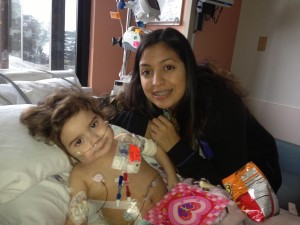 ALWAYS BY HER SIDE:  Ever since Alexis was  diagnosed in 2012, her older sister Marissa and her family have been by her side every step of the way. PHOTO COURTESY OF MARISSA TOVAR