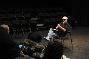 ACTORS STUDIO: Harvey Jordan giving intructions to his students about finals. PHOTO BY RICHARD REYES