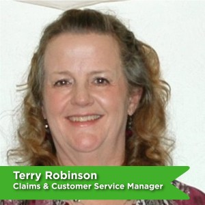 Terry Robinson, Claims and Customer Service Manager