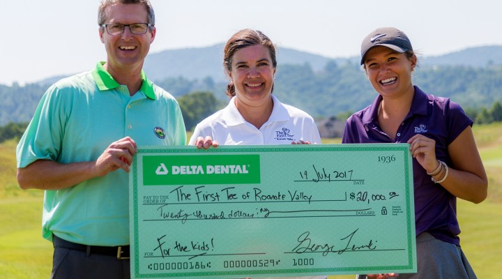 Delta Dental State Open of Virginia Honors The First Tee of Roanoke Valley with Donation and Youth Clinic