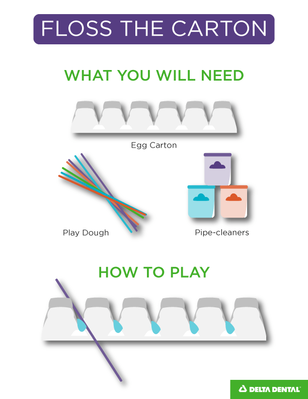 This Activity Gives Youngsters A Hands On Dental Lesson Start By Brushing The Teeth Using White Paint Toothbrush And Egg Carton