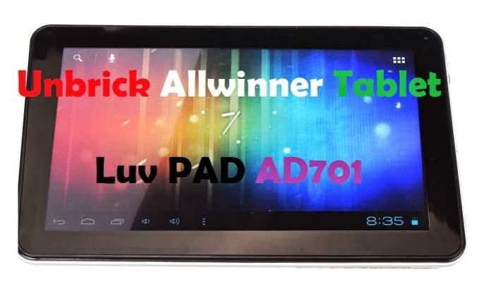 Unbricking Allwinner Tablet and Phone