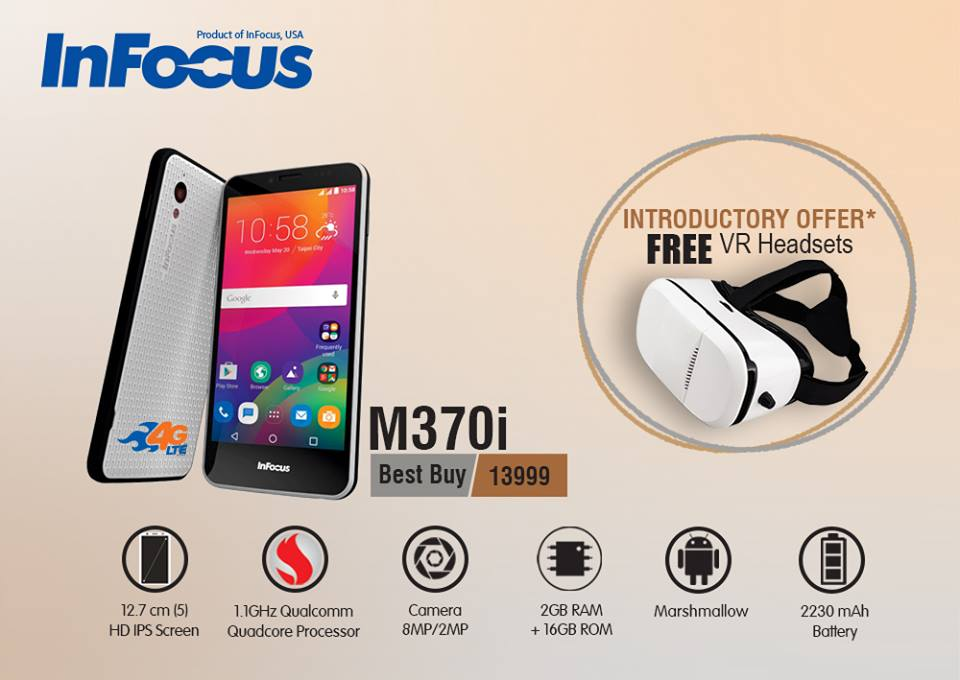 Infocus M370i in Nepal with free VR headset