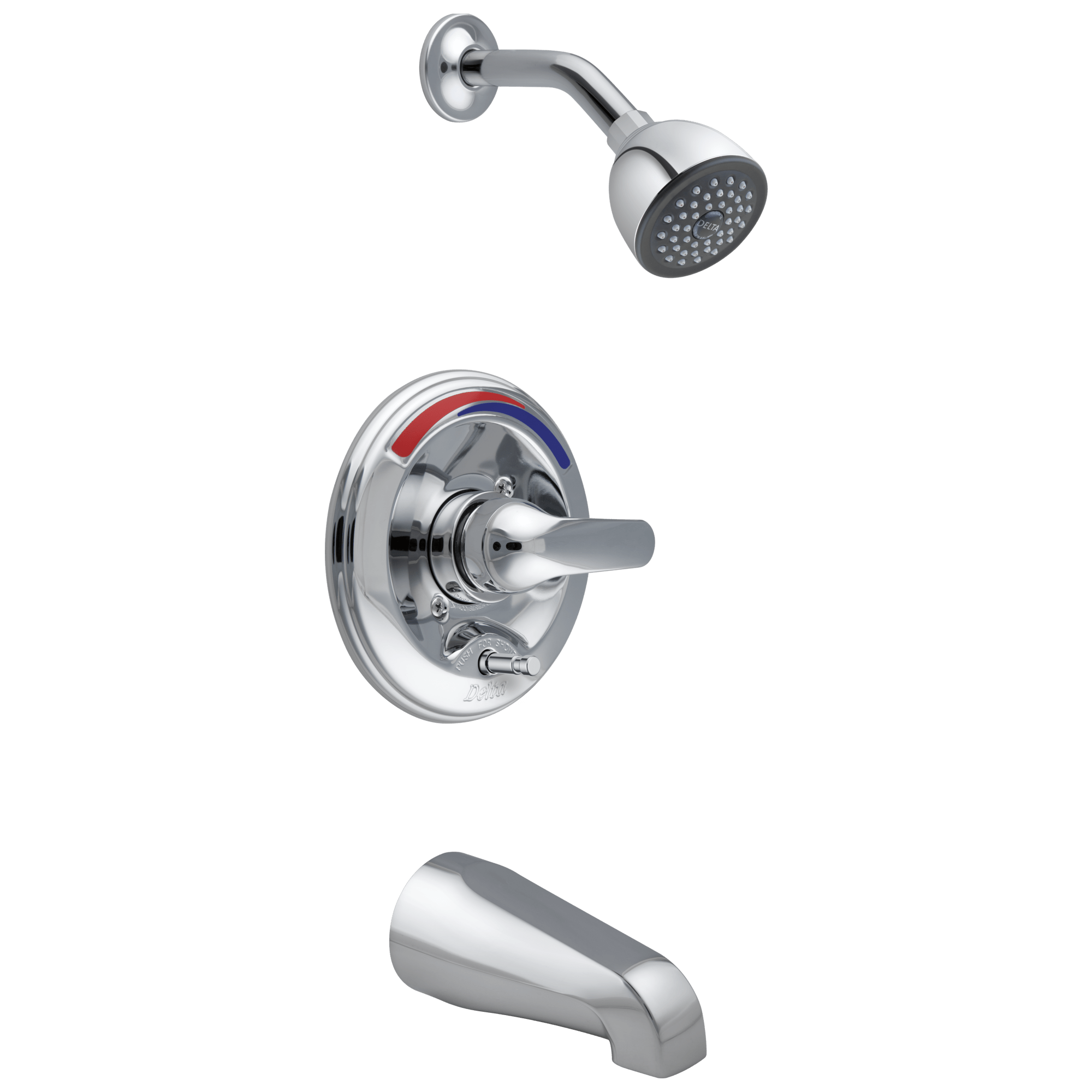 monitor 13 series tub and shower trim push button diverter