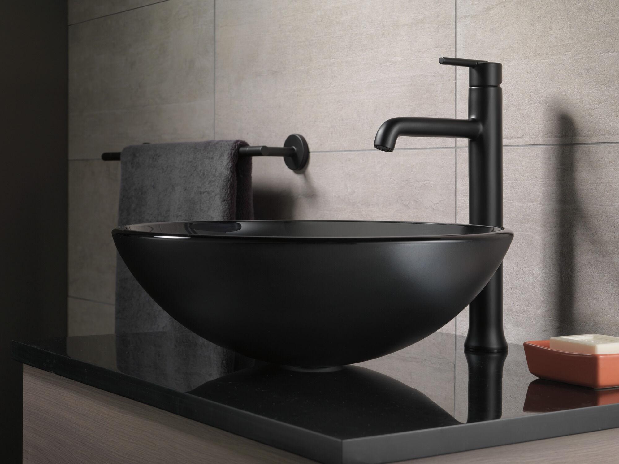 single handle vessel bathroom faucet