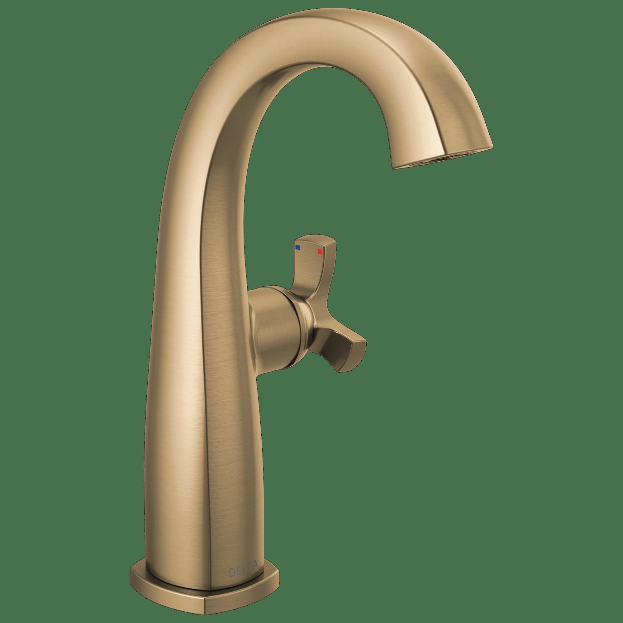single handle mid height bathroom faucet less handle