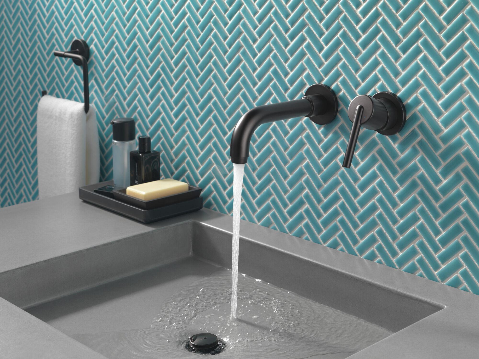 single handle wall mount bathroom faucet trim
