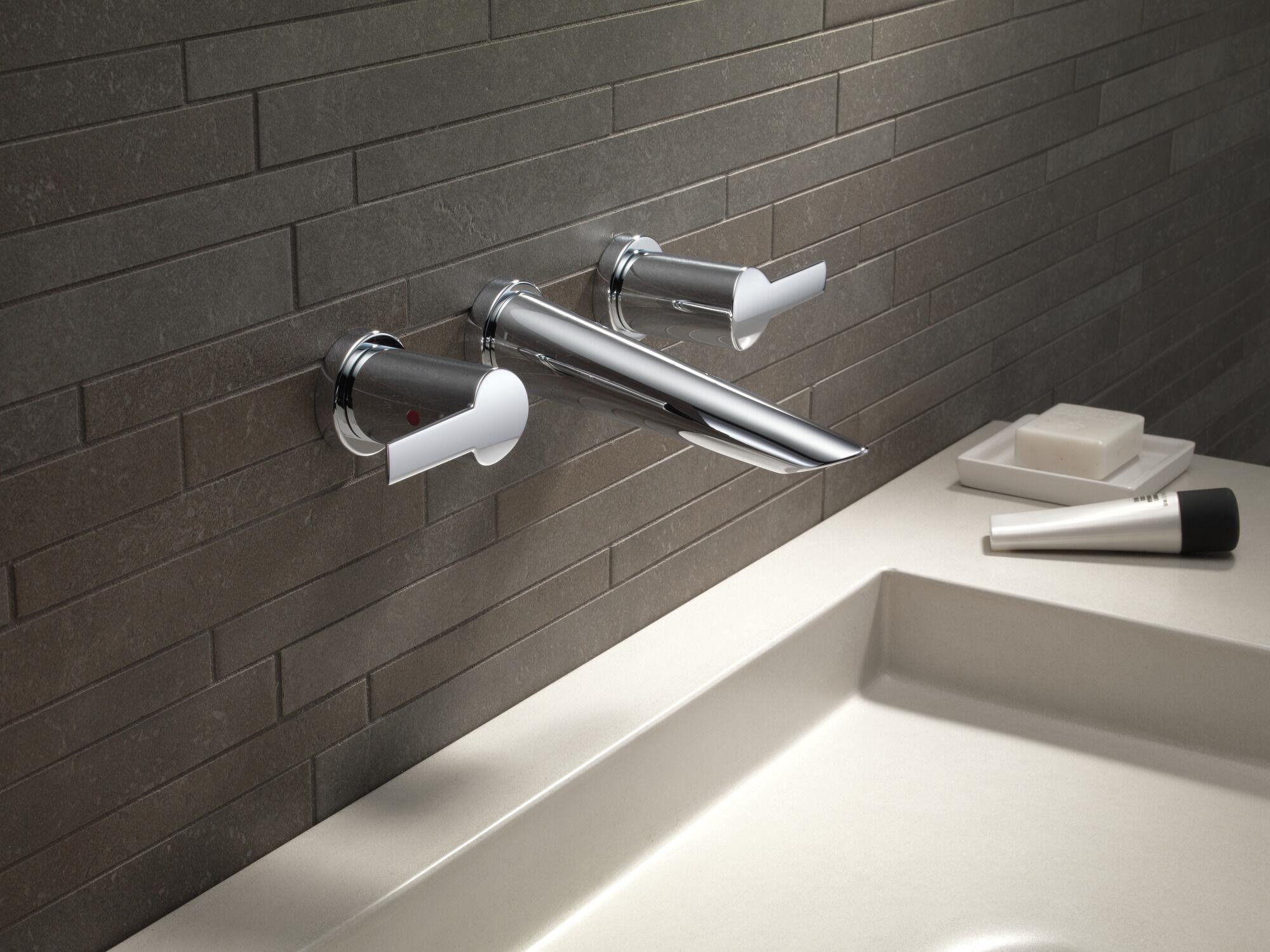 two handle wall mount bathroom faucet