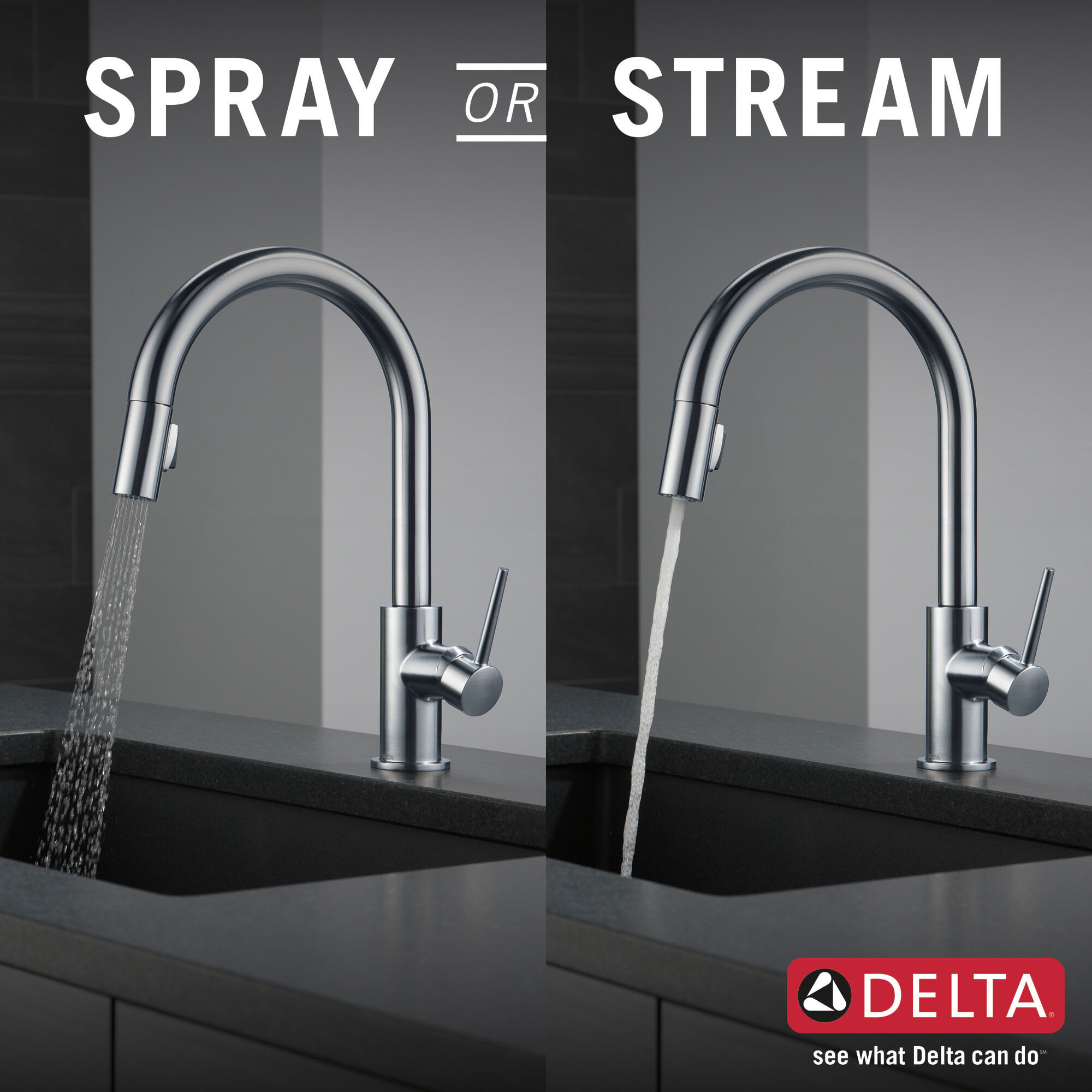 single handle pull down kitchen faucet