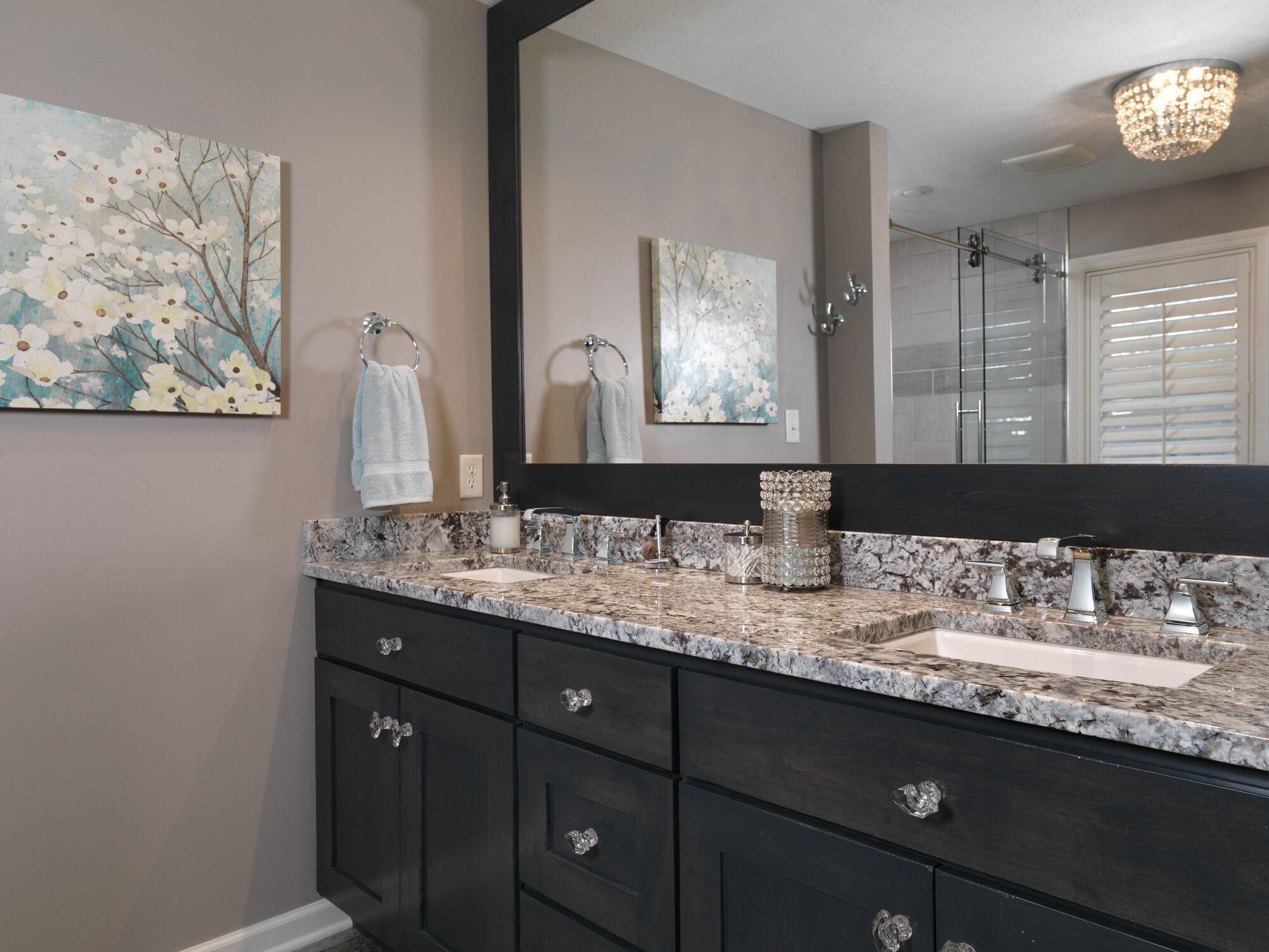 two handle widespread bathroom faucet with ez anchor