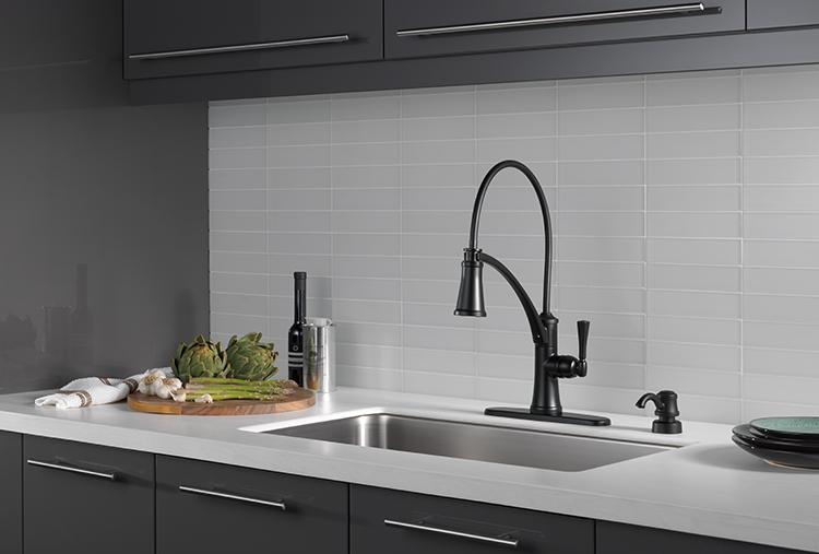 matte black faucet delta faucet