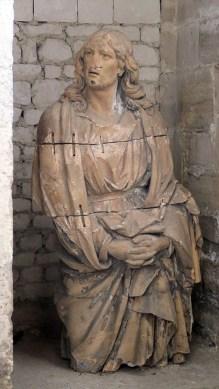 La statue de Saint-Jean de la cathédrale de Saint-Omer