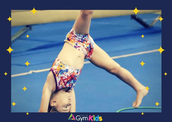 Kids gymnastics - learning handstands - Delta Gymnastics Brisbane, Gold Coast & Barron Valley