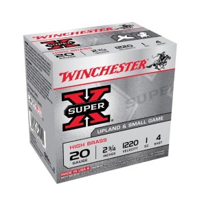 "Winchester SuperX 20GA #4 2¾"" 28gm"