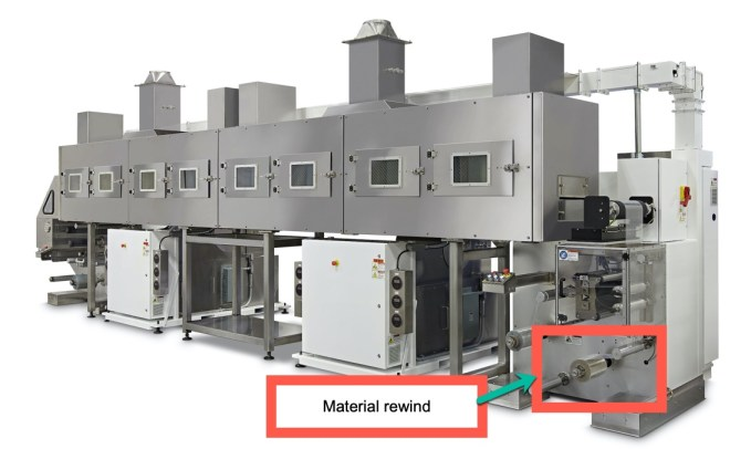 Material Rewind on Web Coating Machine